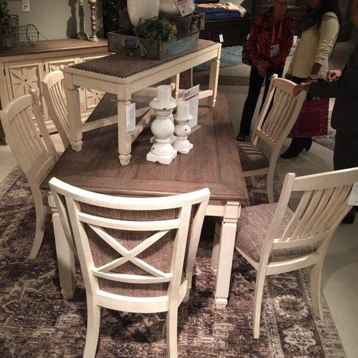 Stupendous Bolanburg Antique White 6 Pc Lets Dine Ebay Antiques Pabps2019 Chair Design Images Pabps2019Com