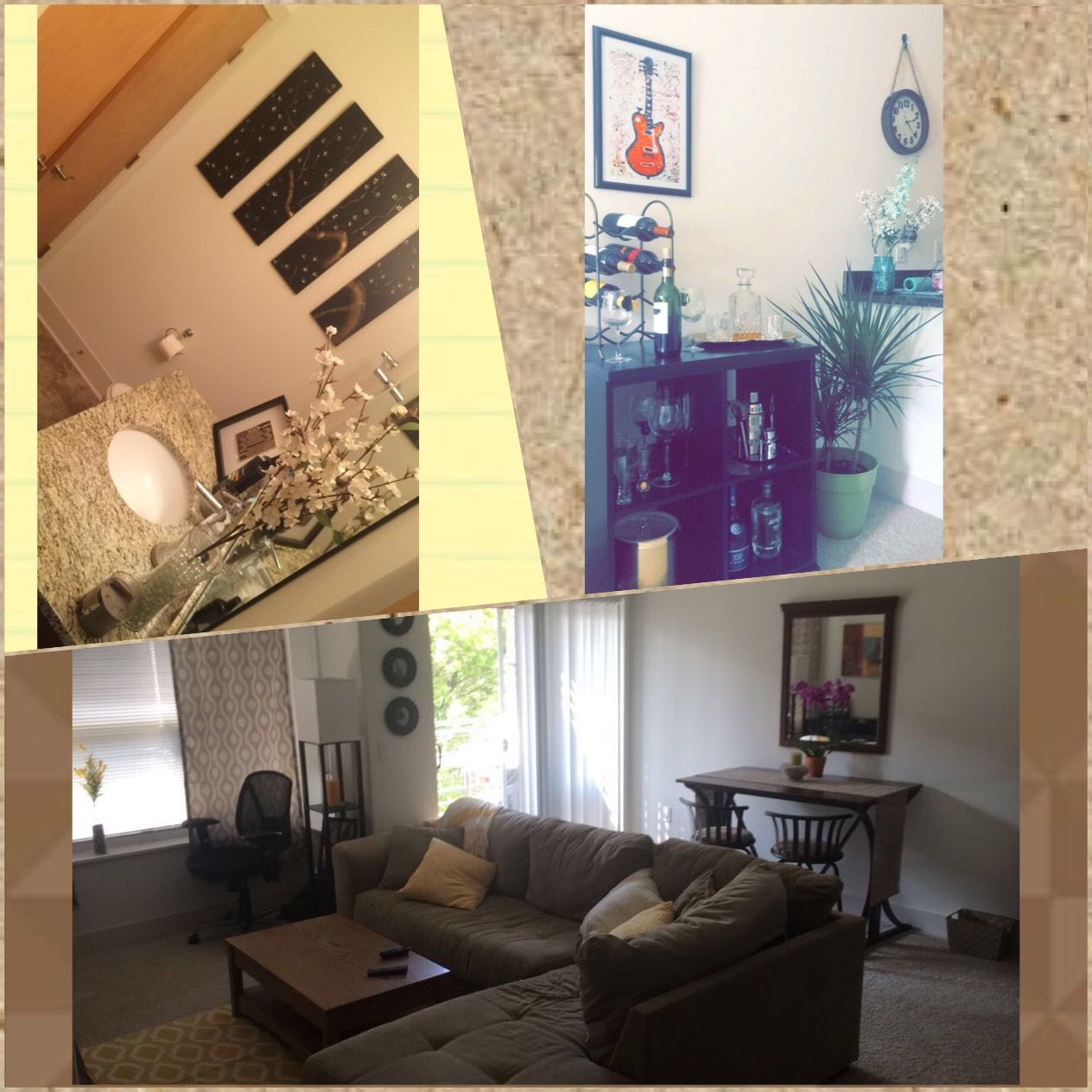 New apartment. Home decor.