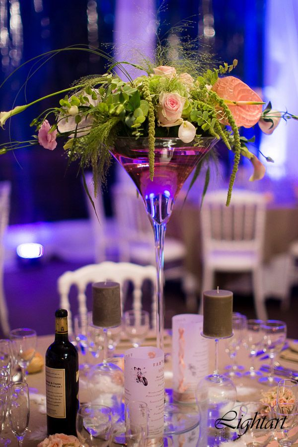 Centre de table vase martini my wedding pinterest centre de table mariage table mariage - Centre de table verre martini ...