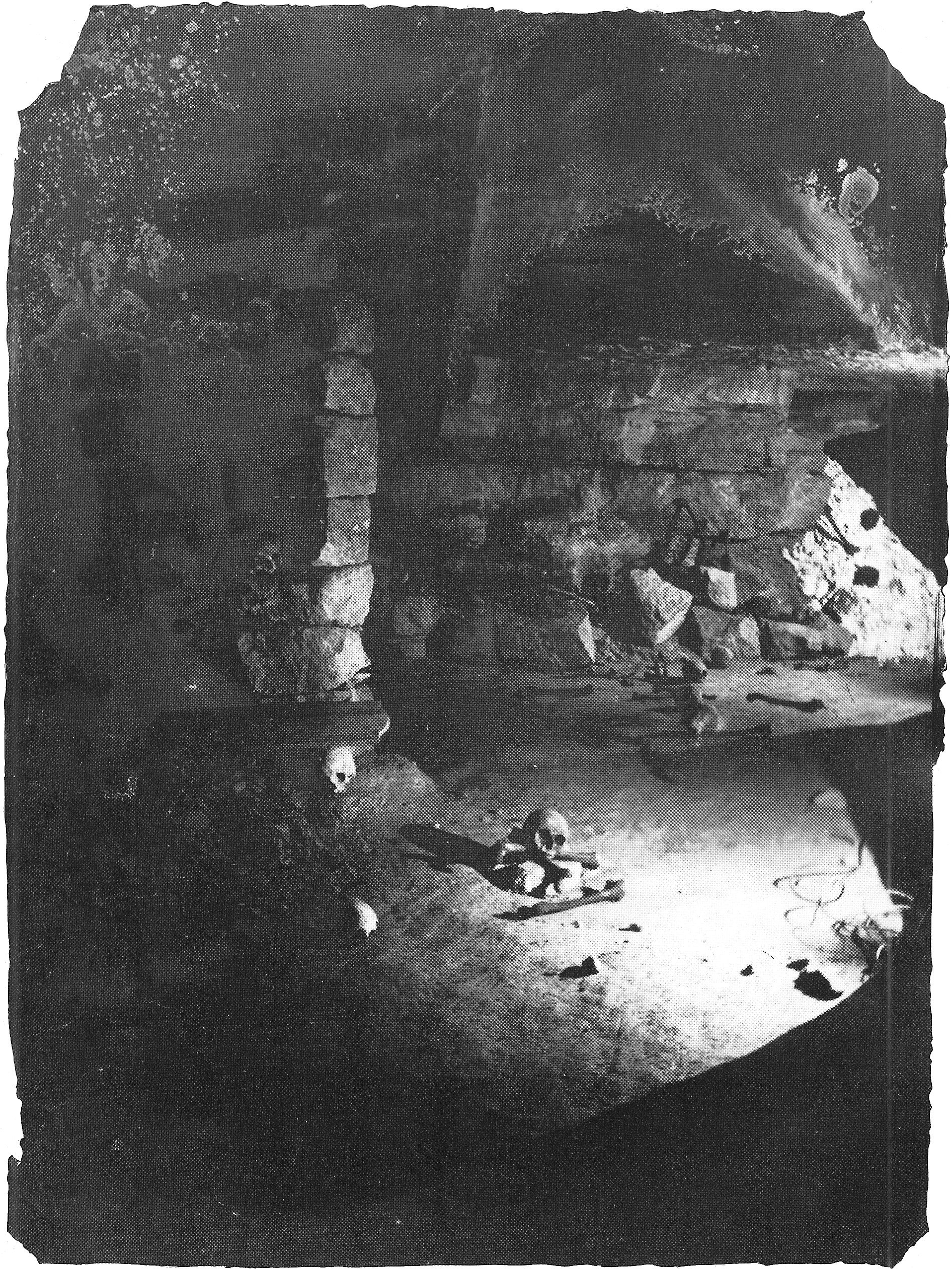 Nadar, 1861, Catacombes de Paris