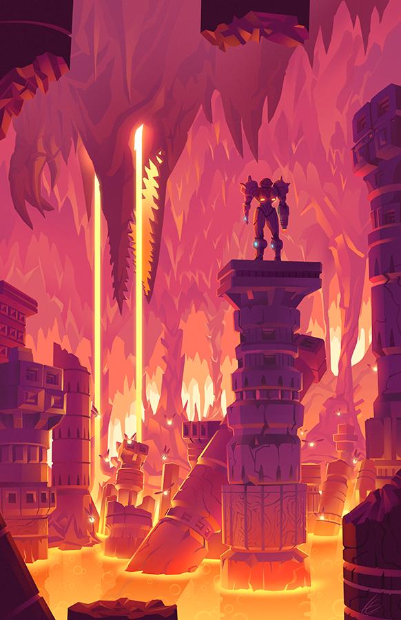 Caverns Of Norfair Metroid Metroid Samus Super Metroid