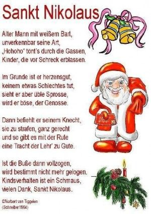 Lustiges Bild Morgen Ist Nikolaus Jpg Vintage Christmas Christmas And New Year Nicolaus