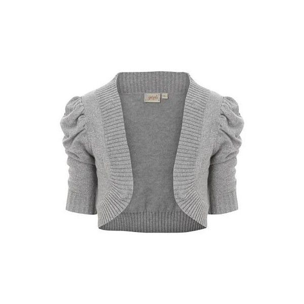 Lurex Shrug ($12) ❤ liked on Polyvore featuring outerwear, tops ...