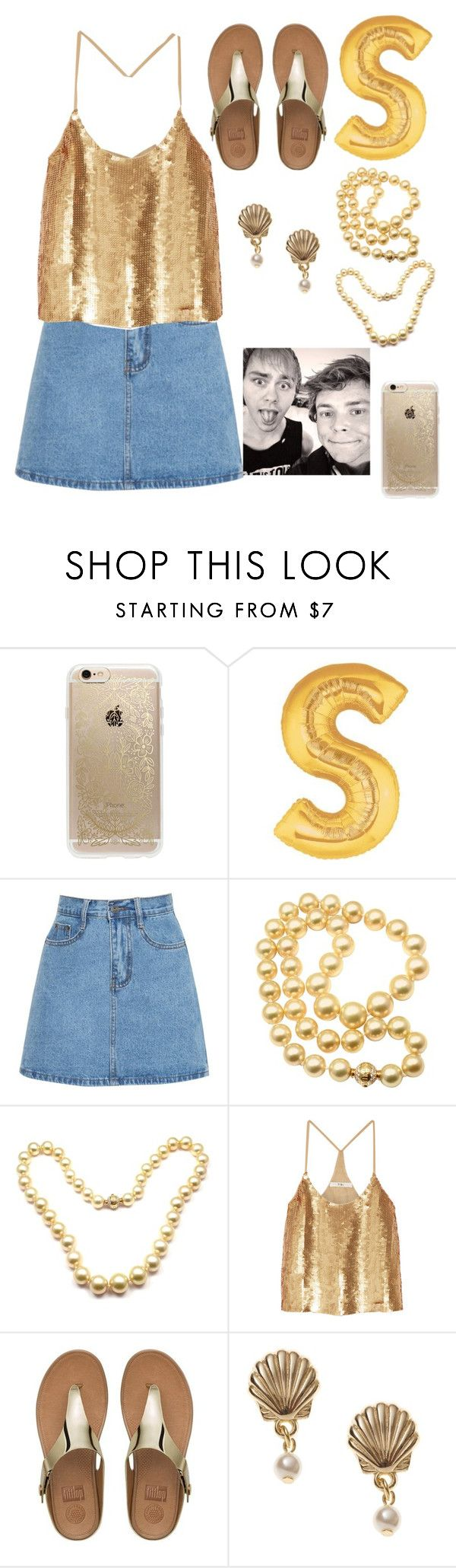 """""""bash"""" by gb041112 ❤ liked on Polyvore featuring Rifle Paper Co, Mikimoto, TIBI and FitFlop"""