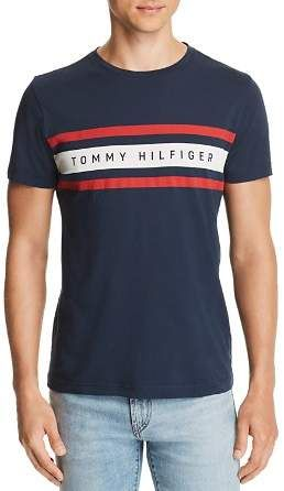 52e18afb3e Tommy Hilfiger Logo Stripe Graphic Tee Shop Logo