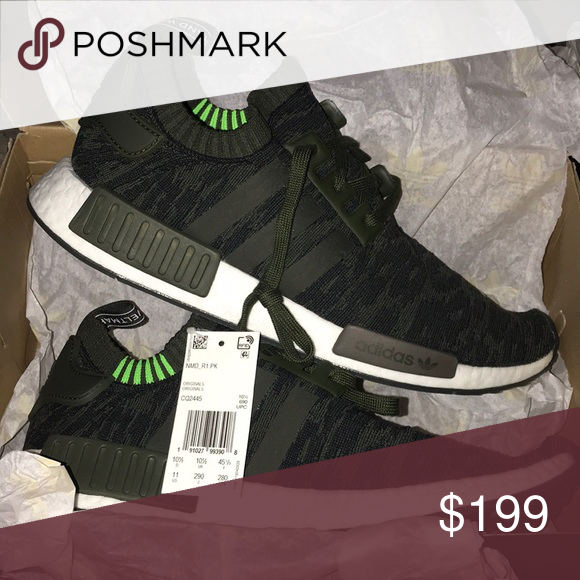 wholesale dealer adf65 6dc53 NWT Adidas NMD R1 Primeknit Night Cargo Adidas Originals NMD R1 Primeknit  Night Cargo These are men's sizing. Men's 11 translates to women's 12 with  Adidas ...