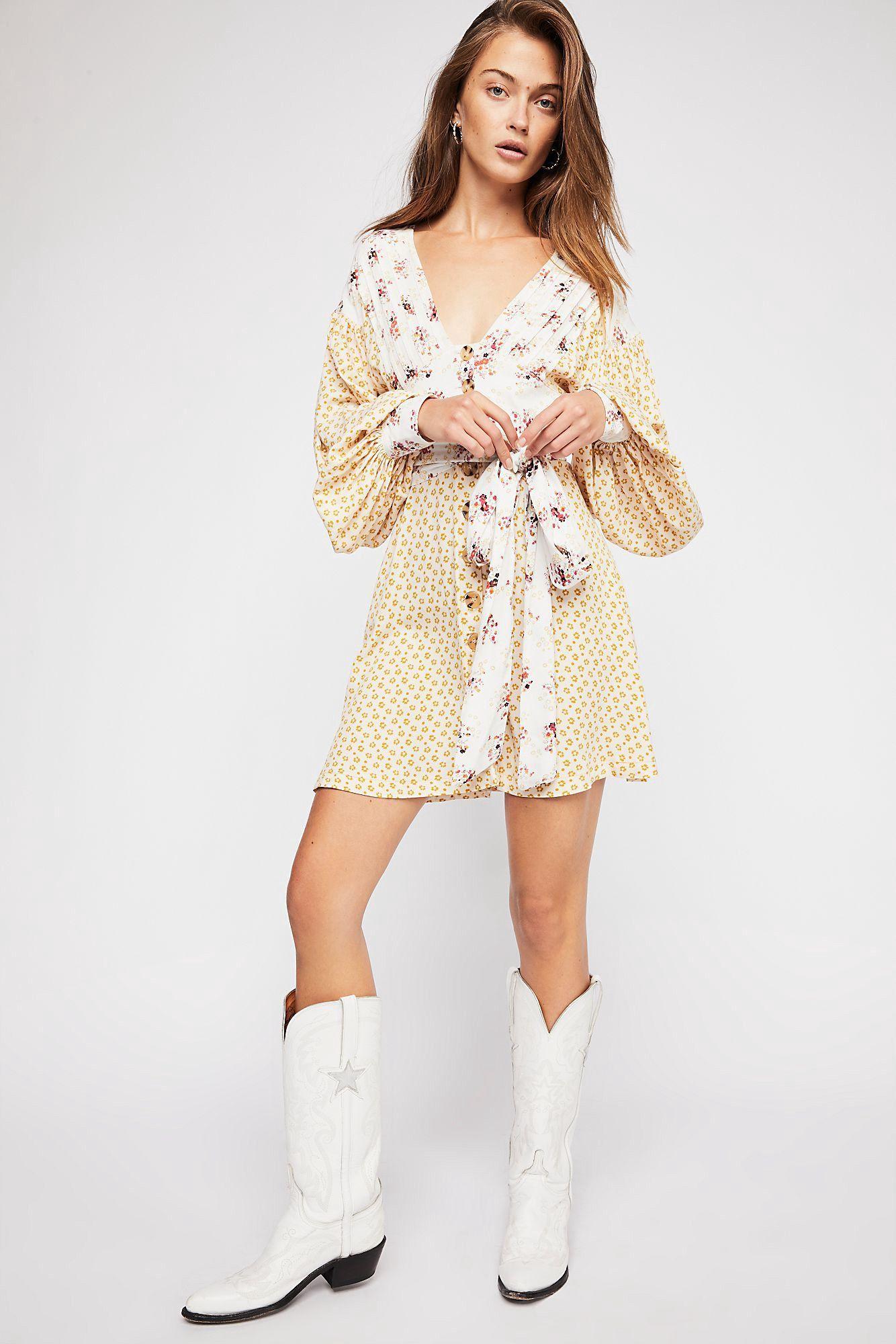 e0a00881b63e Free People Wonderland Mini Dress - Black Combo Xs | Products ...