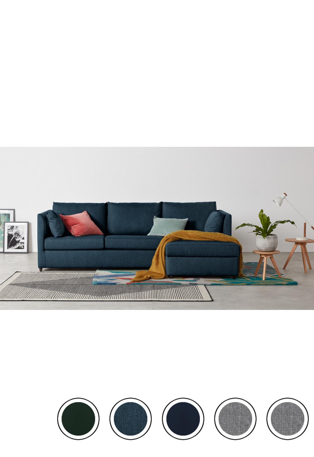 Corner Storage Sofa Bed