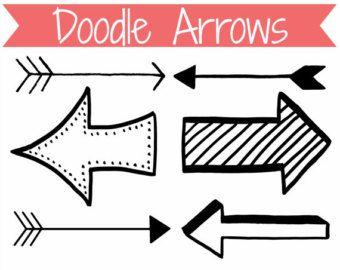 Arrow doodle. Free clipart clipartfest dr