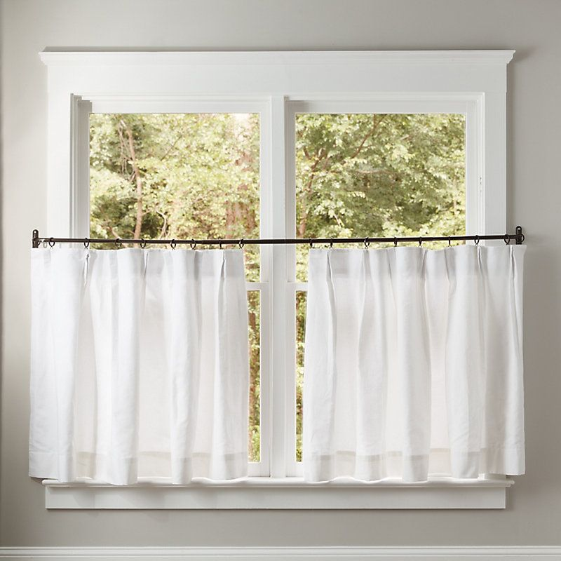 European Pleat Cafe Curtain Panel Cafe Curtains Curtains White Paneling