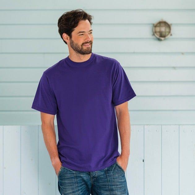 T-Shirt Bright Royal - Russell R-180M-0 - Größe: L