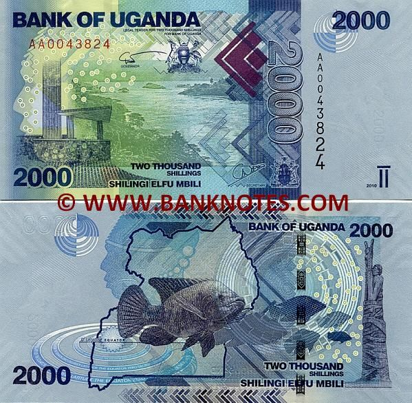 Uganda 1000 Shilingi Uncirculated Note Year 2010
