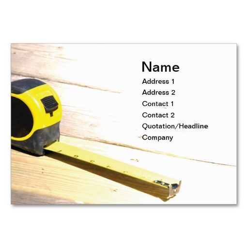 Tape measure business card | Handyman Business Cards | Pinterest ...
