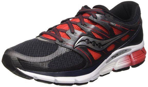 Saucony Men's Zealot ISO Road Running Shoe, Red/Black/Silver, 11 M US