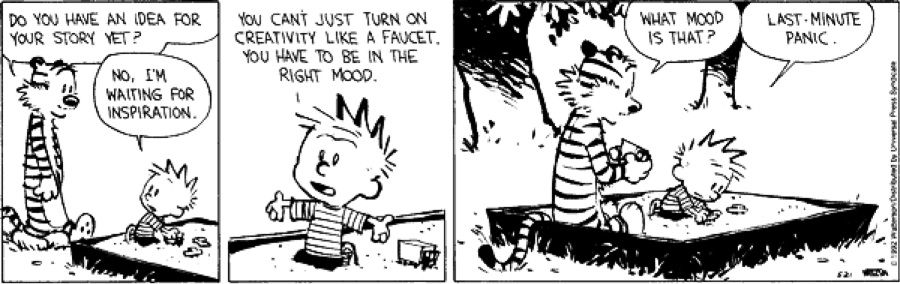 Last Minute Panic Calvin And Hobbes Calvin Hobbes Comics