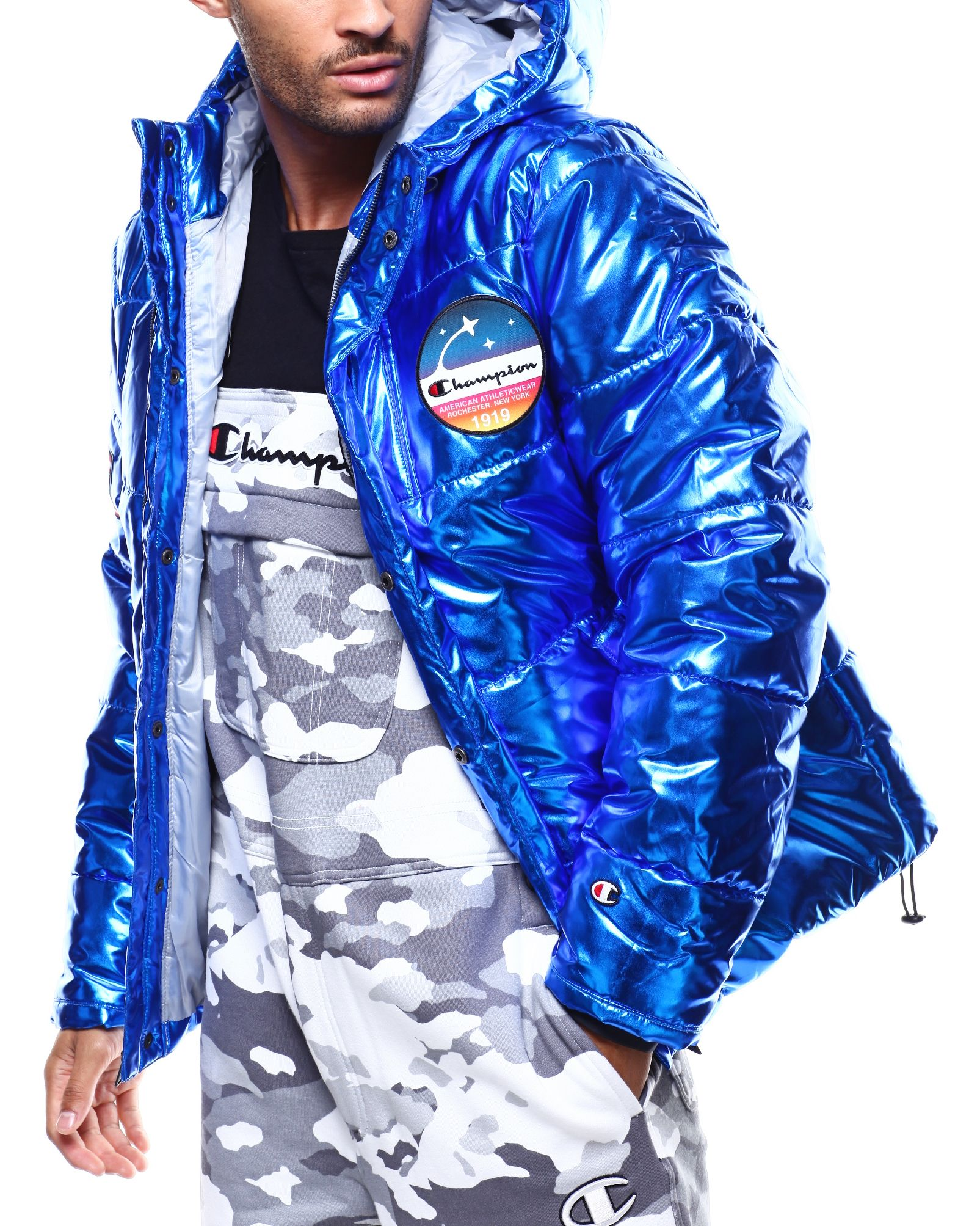 470d864f2 METALLIC PUFFER COAT Men's Outerwear from Champion at DrJays.com ...