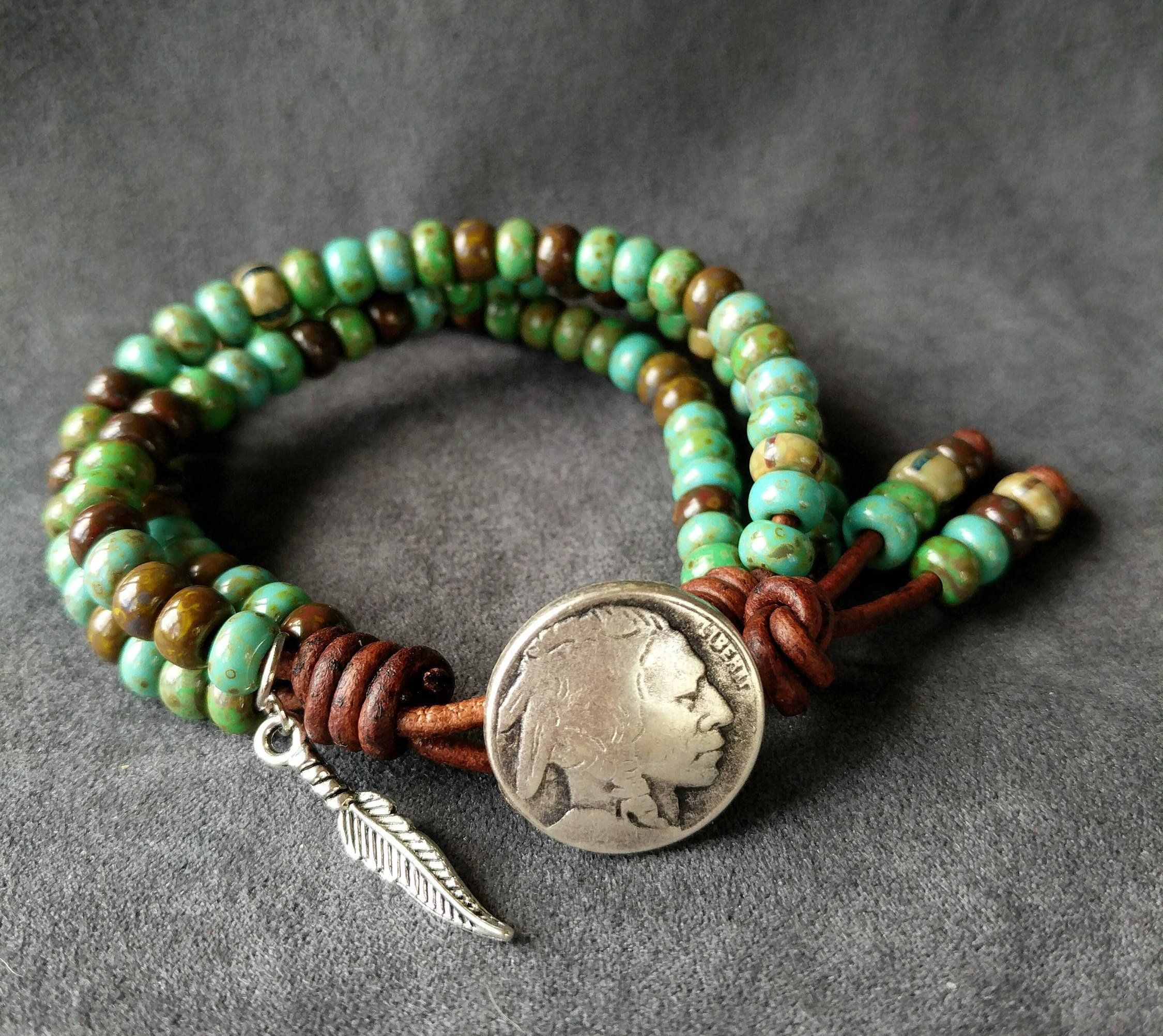 bracelet or anklet and earrings Custom native inspired jewelry set with hair wrap necklace