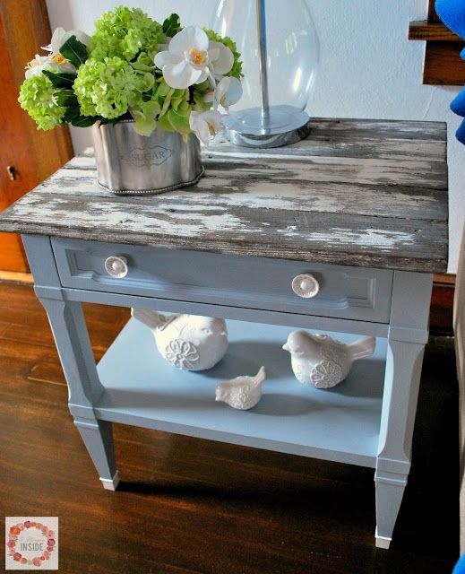 image result for end table makeover