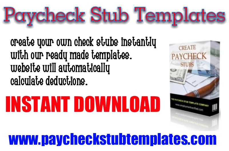 Create your own paycheck stub ready made templates you