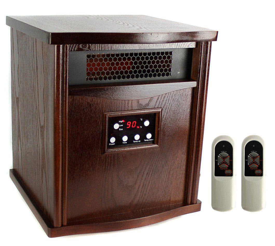 Lifesmart HT1217 6 Element 5200 BTU Large Room Infrared Quartz Space Heater