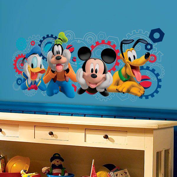 Vinilos Mickey Mouse Para Pared.Vinilos Infantiles Mickey Y Amigos Casa De Mickey Mouse