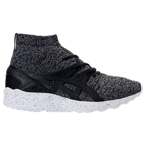 men's gelkayano trainer knit mid casual sneakers from