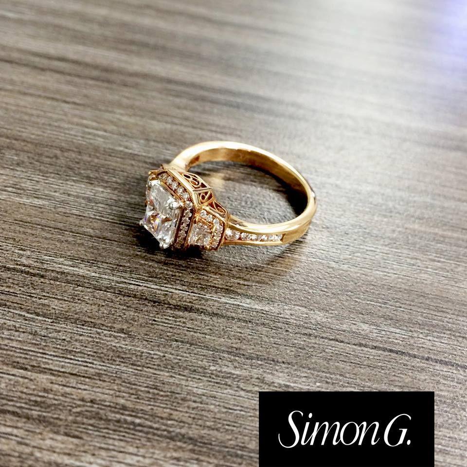 Rose gold beauty from Simon G Simon G Engagement Rings at Ben