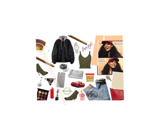 """""""remember that i tried to build ya, now i ain't worried bout shít 🗣"""" by s-trippers ❤ liked on Polyvore featuring Steve Madden, Ferrari, MAC Cosmetics, Gucci, Victoria's Secret, Levi's, River Island, Native Union, Vaseline and Links of London"""
