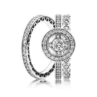 Vintage Allure Ring Stack Pandora Earrings Rings