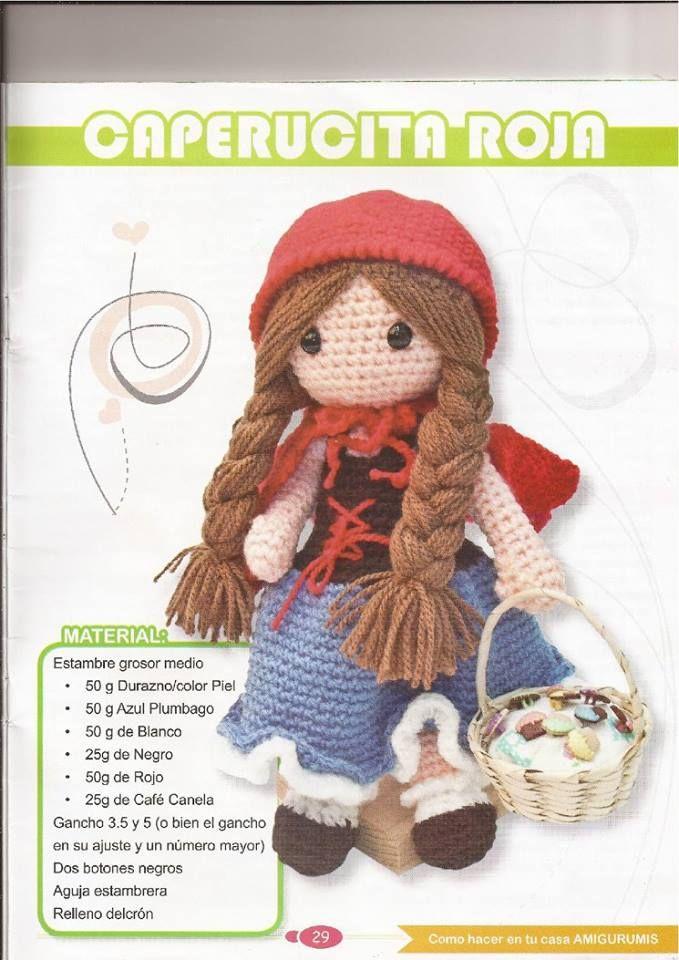 PATRONES GRATIS DE CROCHET: CAPERUCITA ROJA amigurumi a crochet ...
