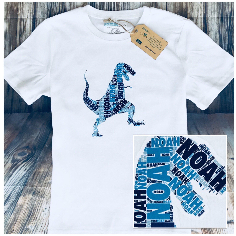 15b73d75b Custom Made Dinosaur Kids & Baby Birthday Gift T-shirt or One-piece,  Romper, Bodysuit. Custom Made Print for Baby Shower Toddler or Kids by  GokottaBaby on ...