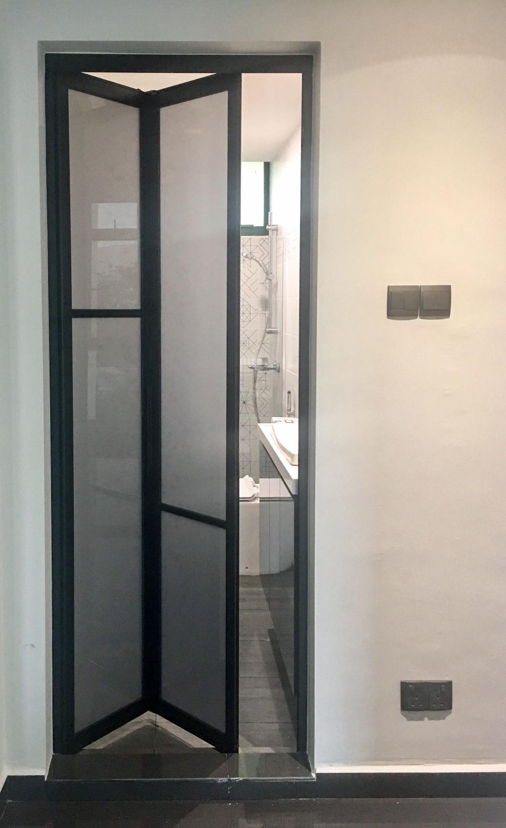Retractable Bathroom Door Google Search Folding Bathroom Door Sliding Bathroom Doors Space Saving Doors