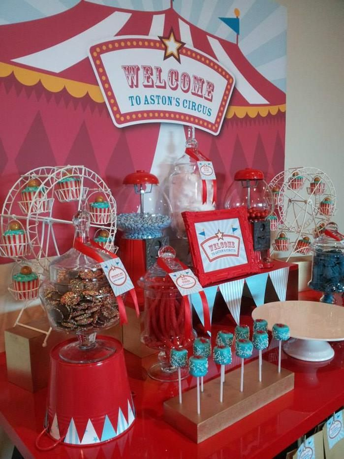 Vintage circus party on pinterest vintage circus circus party and - Carnival theme party supplies ...