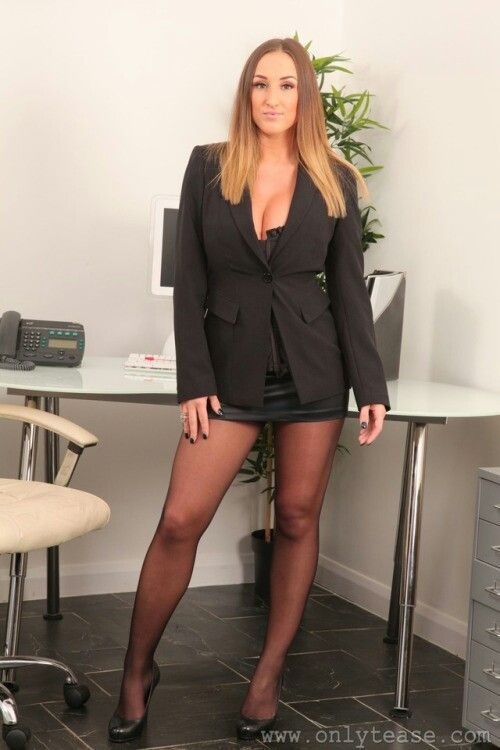 Would Sexy pantyhose secratary are