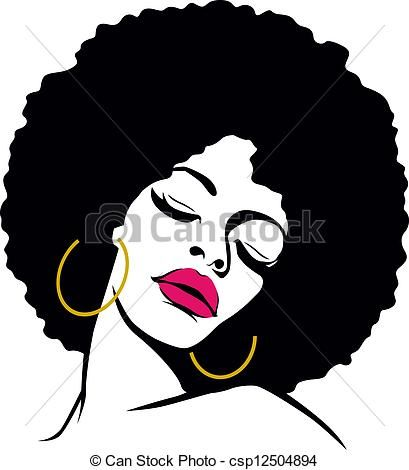 Stock Illustration Of Afro Hair Hippie Woman Pop Art Csp12504894 Search Vector Clipart Drawings Illustrations A Afro Art African Art African American Art