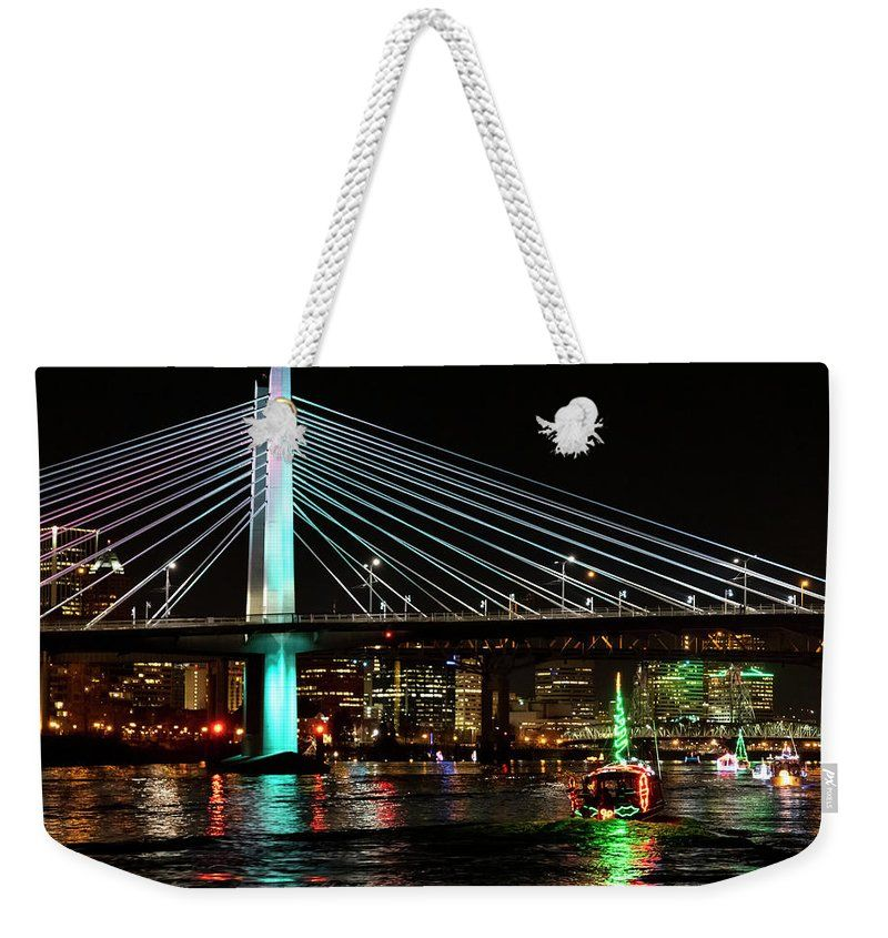 Christmas Ships Portland 2020 Christmas Ships Weekender Tote Bag for Sale by Steven Clark in