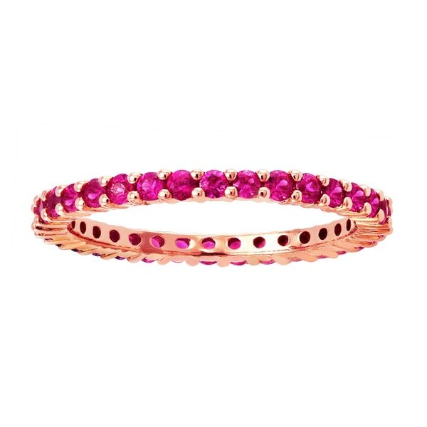 10k Rose Gold 9/10ct Natural Pink Sapphire Stackable