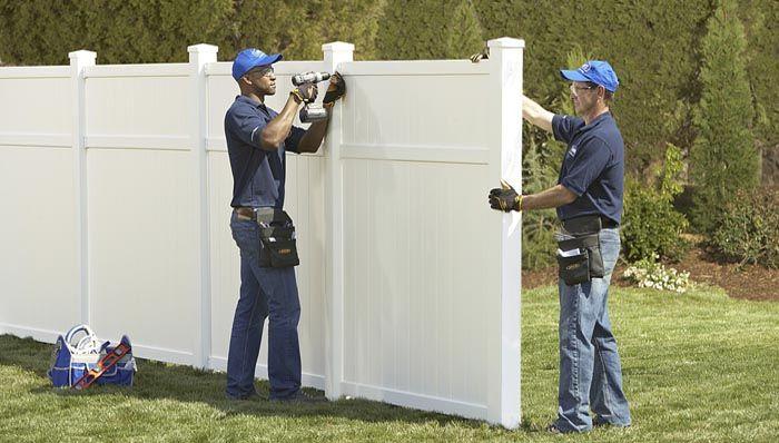 Installing A Vinyl Fence Vinyl Fence White Fence Vinyl Privacy