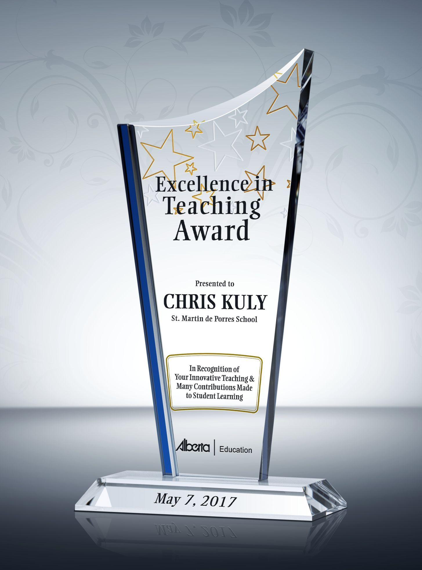 Teaching Excellence Award Plaque Online Shop Promotion