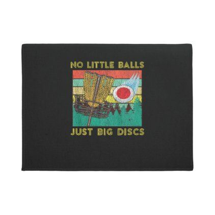 Retro Adult Disc Golf Humor Basket Chains Disc Gol Doormat | Zazzle.com