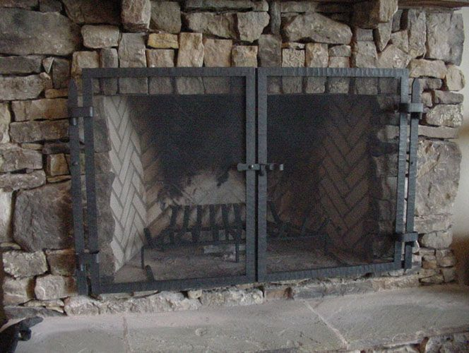 Cast Iron Fireplace Screen On Custom Fireplace Quality Electric