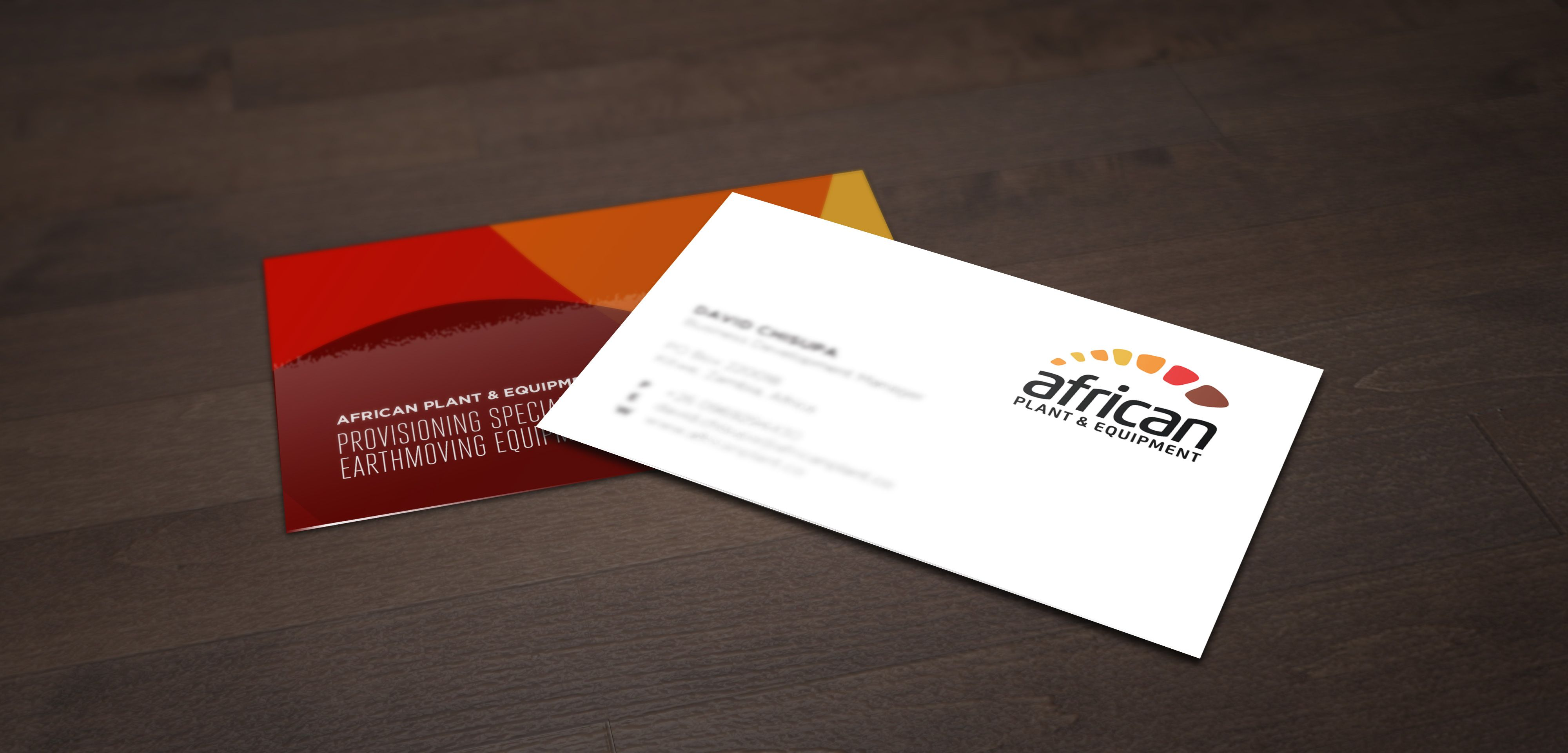 iFactory Business Cards Design for African Plant & Equipment ...