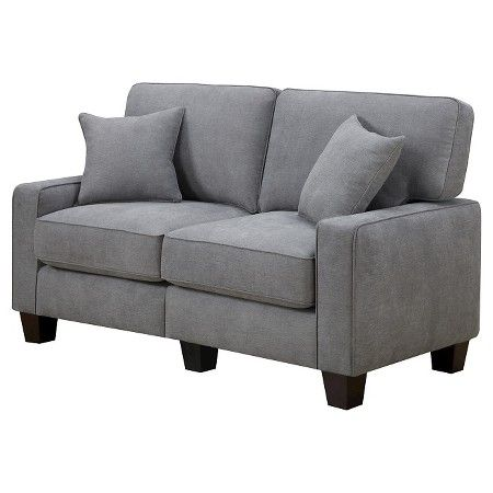 "Serta® RTA Palisades Collection 61"" Loveseat in Glacial Gray, CR45232B : Target"