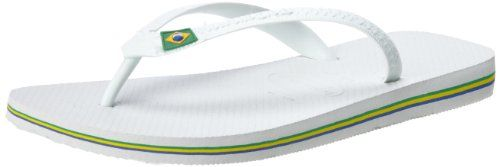 Havaianas Men's Brasil Flip Flop -                     Price: $  24.00             View Available Sizes & Colors (Prices May Vary)        Buy It Now      Mix it up by wearing this new style that combines the classic Brasilian flag with colorful straps logo and sole!Rubber upperRubber soleStyle Name: BrasilWhether you're...