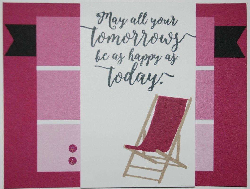 Beach chair card by stampinrachel cards and paper crafts at