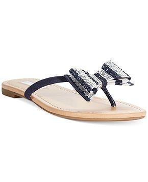 0a614d90c INC International Concepts Women s Maey Bow Thong Sandals - INC  International Concepts - Shoes - Macy s