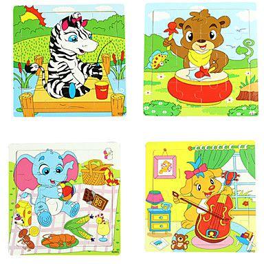 16pcs/lot de madeira quebra-cabeça Brinquedos Educativos (cor aleatória) – BRL R$ 10,32