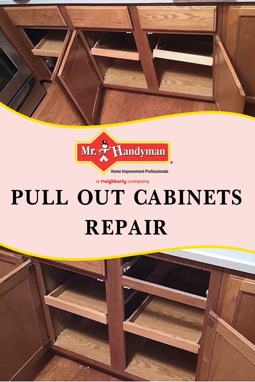 Pull Out Cabinets Repair In 2020 Installing Cabinets Cabinet Repair Repair