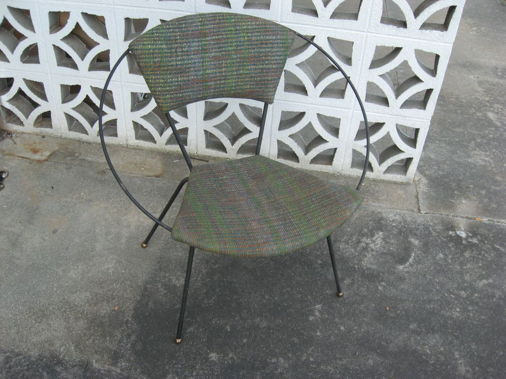 Mid Century Circle Chair Wrought Iron Chair Modern Design