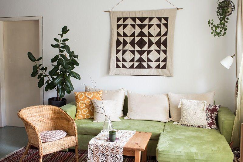 home tour mein wohnzimmer im boho look green bird meine diy projekte pinterest selber. Black Bedroom Furniture Sets. Home Design Ideas